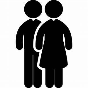 Dos hombres pareja Descargar Iconos gratis