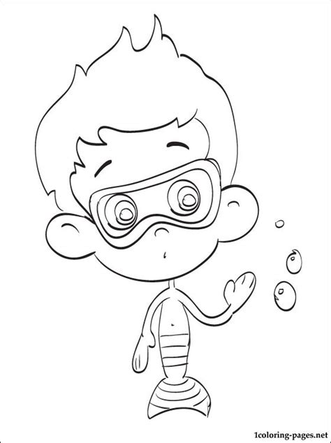 nonny bubble guppies coloring drawing coloring pages