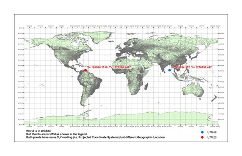 coordinate system   georeference  map  utm wgs