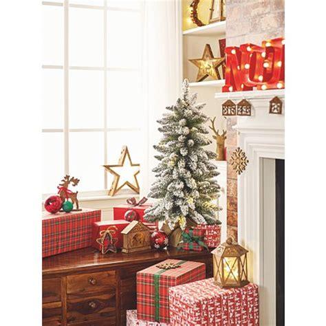 asda pre lit xmas trees 3 ft snowy pre lit tree