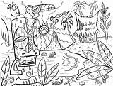 Tropical Pages Beach Coloring Colouring Hawaiian Getdrawings sketch template