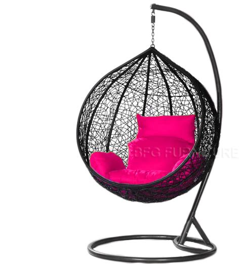swing chair classic black frame outdoor furniture