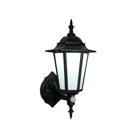 endon evesham black outdoor led wall light with sensor