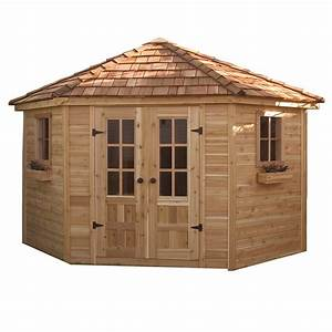 outdoor living today pen99 9 ft x 9 ft cedar penthouse With garden sheds lowes