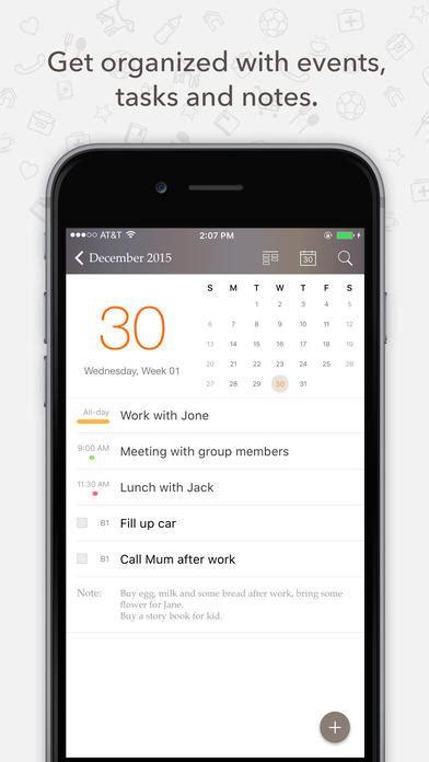 planner pro daily calendar personal organizer  ios