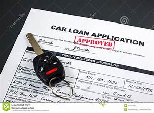 Car Loan Application Approved 002 Stock Photo - Image ...