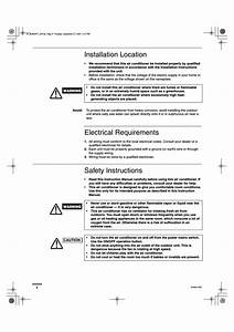 Installation Location  Electrical Requirements  Safety