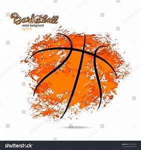 Abstract Background Basketball Symbol Grunge Ball Stock ...