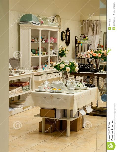 home design store home decor and dishes shop royalty free stock image