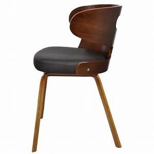 lot de 4 chaises de salle a manger en cuir melange brun With meuble salle À manger avec chaise cuir couleur