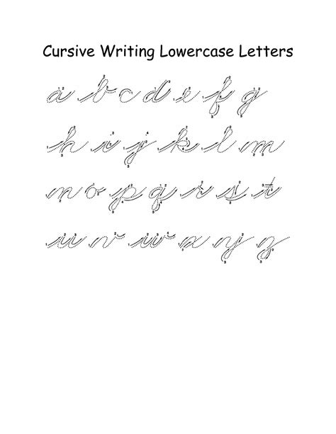 6 Best Images Of Lower Case Cursive Writing Worksheets  Lowercase Cursive Handwriting