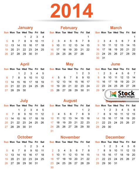 Free Calendar Templates 2014 Canada by 2014 Calendar Template Vector Free Printable