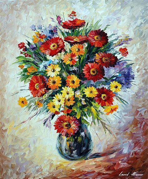 Celebration Bouqet — Palette Knife Oil Painting On Canvas