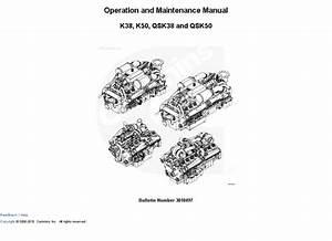 Cummins K38  K50  Qsk38  Qsk50 Engine Operation Manual
