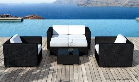 meuble de jardin resine tressee table et chaise exterieur pas cher reference maison