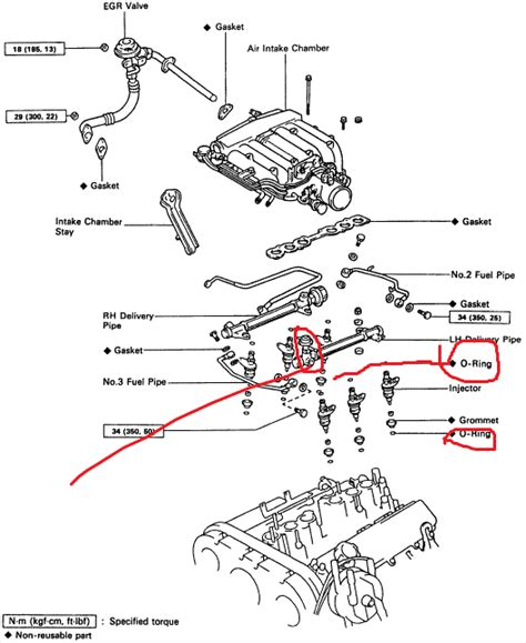 similiar 91 3 0 4runner air cleaner schematic keywords 4runner v6 3 0 engine toyota 4runner power steering pump diagram