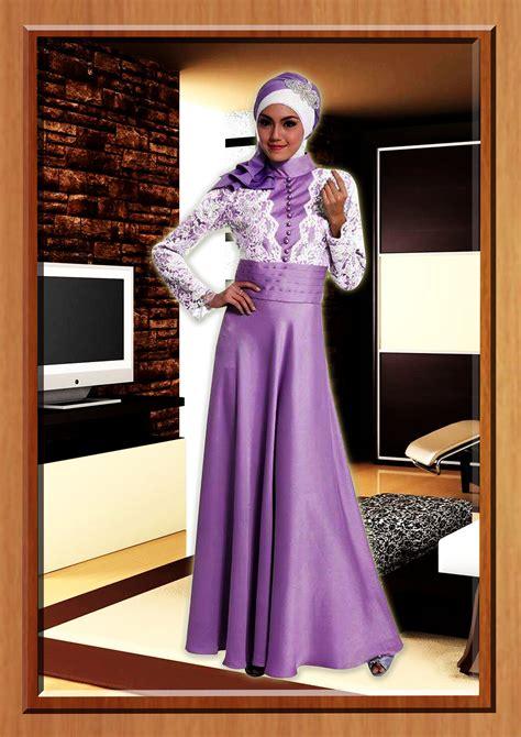 ungu cavelli baju muslim gamis modern