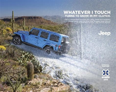 jeep wrangler ads 2014 jeep wrangler polar edition ad debuts during x games