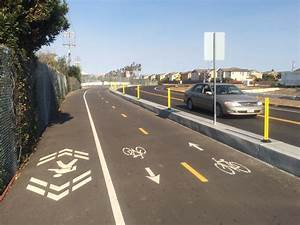 Bike Lane Design Standards South Bay Cities Build Region S First Separated Bike Lanes