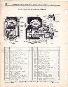 Magneto Rx  - Fairbanks Morse - Fmj1a   Fmj1b   1947 Bulletin 2864b