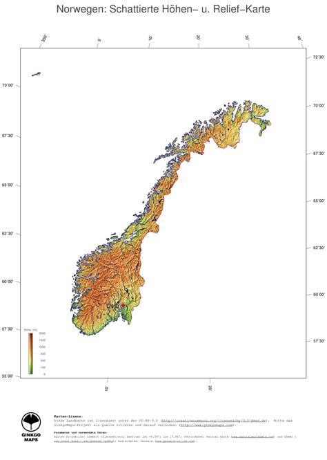 Sehenswürdigkeiten Norwegen Karte
