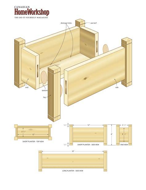 planter box construction plans plans diy free