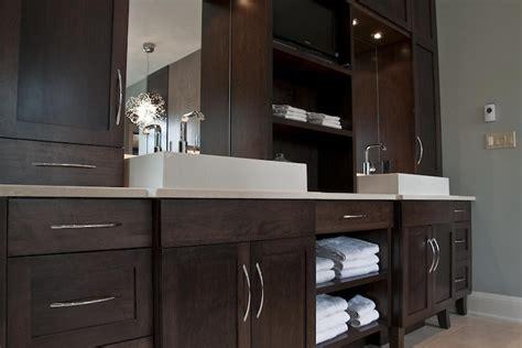 Espresso Bathroom Cabinets by Espresso Cabinets Contemporary Bathroom Deslaurier