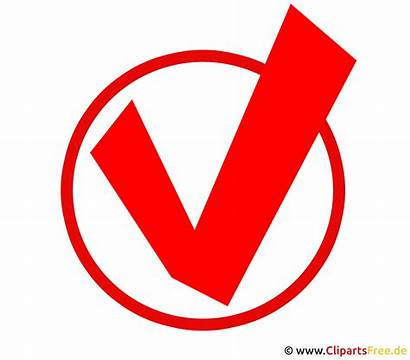 Haken Erledigt Clipart Symbol Roter Icon Weiss