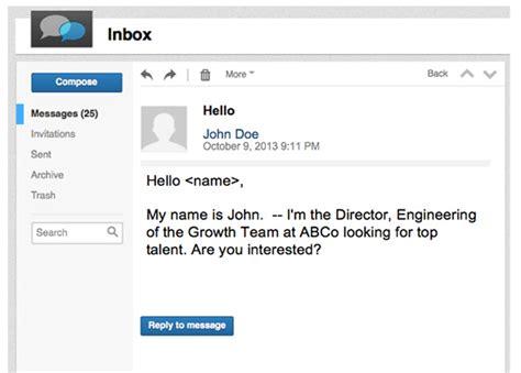linkedin inmail templates linkedin inmail templates gallery