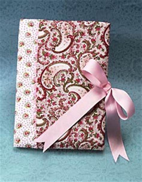 pretty fabric  ribbon notebook favecraftscom