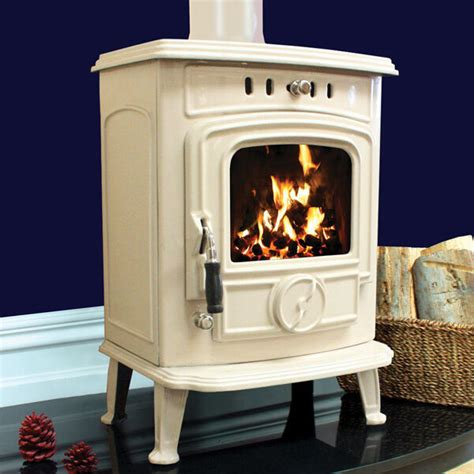 kw henley aran cream multifuel wood burning cast iron