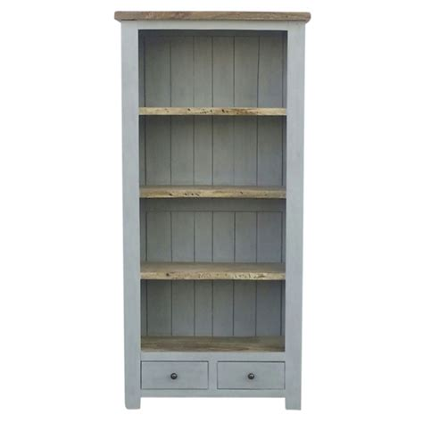 Black Bookshelves For Sale by Grey Painted 2 Drawer Bookcase With Wooden Top