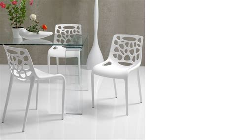 chaises design blanches chaises de salle a manger blanches 28 images leaf lot