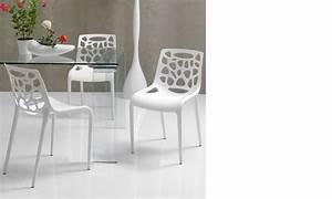 chaise salle a manger blanche design pelam With salle À manger contemporaineavec chaise design blanche