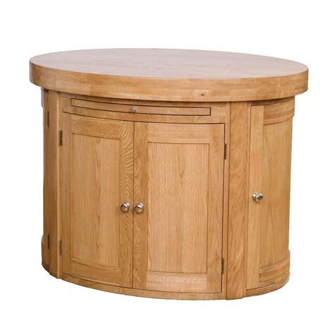 oval kitchen island  oak top