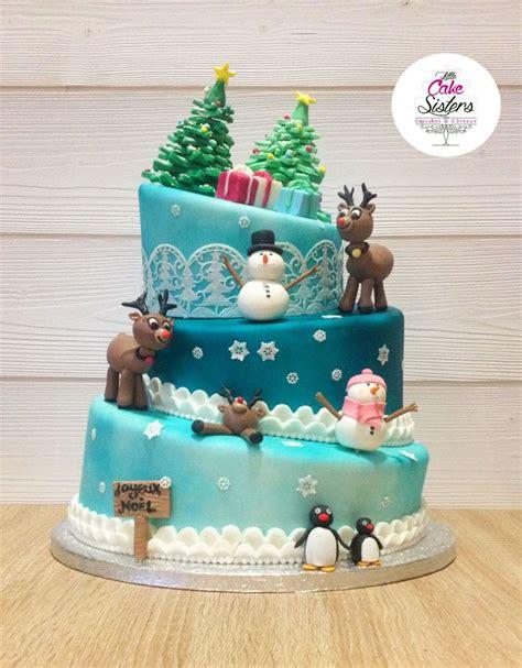 gateau de noel pate a sucre 71 les meilleures images concernant id 233 e cake design sur g 226 teaux mignons animaux et