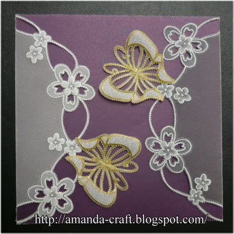 lovely bags  parchment craft butterfly card