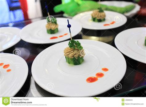 pate canapes plates with pate canape stock photo image of sauce