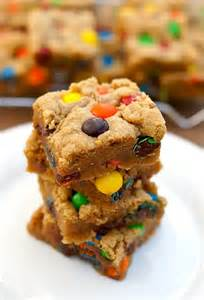 M and M Cookie Bars