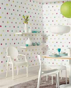Papier Peint Petite Fille : du papier peint pour une chambre d 39 enfant frenchy fancy ~ Dailycaller-alerts.com Idées de Décoration