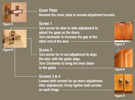 how to adjust cabinet doors 3 adjusting cabinet doors affinity kitchens news