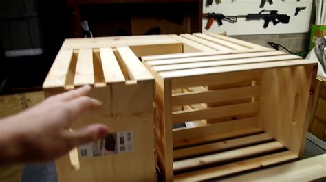 easy diy coffee table   wooden crates youtube