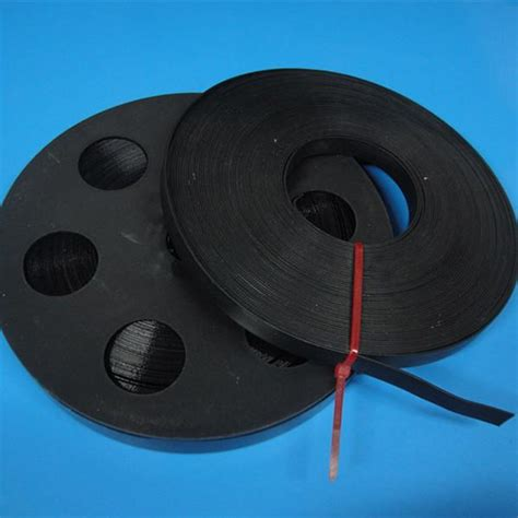 custom length black stainless steel banding strap pvc coated metal strapping tape
