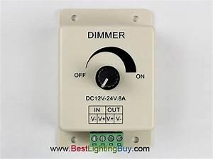 Knob Manual Pwm Single Color Led Dimmer  12v