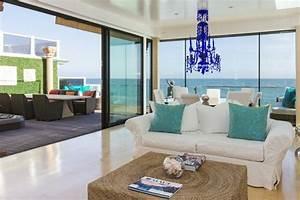 maison au bord de la mer de design eclectique a malibu With tapis oriental avec canape bord de mer