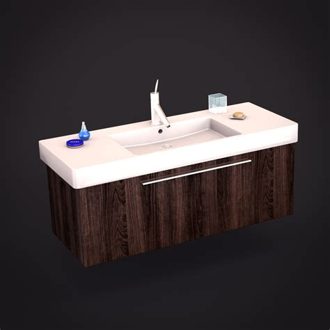 duravit vero sink 3d models cgtrader com