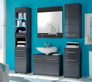 Badezimmer Set Grau : badezimmer chrome 5 tlg badm bel komplett set grau metallic ~ Indierocktalk.com Haus und Dekorationen