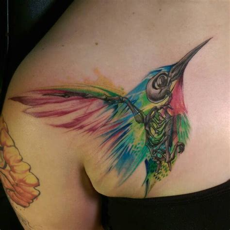 ideas  hummingbird tattoo watercolor