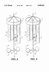 Wind Chime Striker Patents Drawing Pages sketch template
