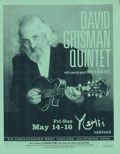 David Grisman Quintet Yoshi's, Oakland, Ca Flyer